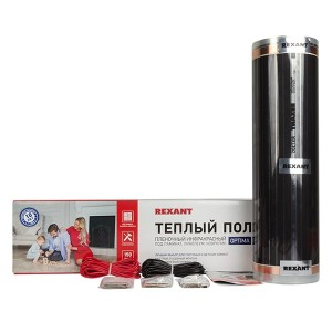 Пленочный теплый пол REXANT Optima-150 1350Вт 9 м2