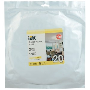 Лента LED 20м LSR-2835WW60-4,8-IP20-12В IEK теплый белый