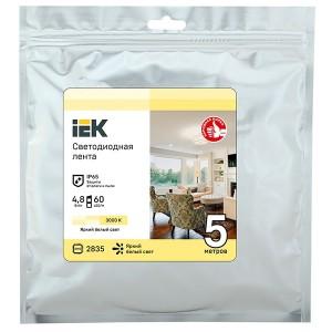 Лента LED 3м LSR-2835WW60-4,8-IP65-12В IEK теплый белый