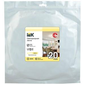 Лента LED 20м LSR-2835WW60-4,8-IP65-12В IEK теплый белый