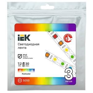Лента LED 3м LSR-5050RGB30-7,2-IP65-12В IEK
