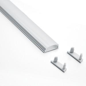 Профиль алюминиевый накладной, гибкий, серебро, CAB264