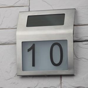 ЭРА Номер дома с подсветкой, на солнечной батарее ERAFS048-09
