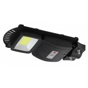 Консольный светильник COB 20W 450lm 5000К IP65 ПДУ на солн. батарее с датчиком движения 003301