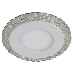 Светильник ЭРА DK LED 14 SL/WH круглый LED белая подсветка 3+3W прозрачный/белый 5056183763749