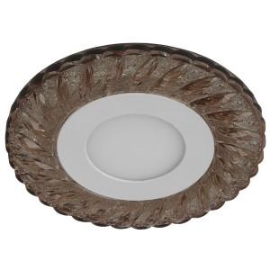 Светильник ЭРА DK LED 15 CHP/WH круглый LED белая подсветка 3+3W шампань/белый 5056183763756