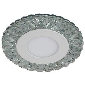 Светильник ЭРА DK LED 16 SL/WH круглый LED белая подсветка 3+3W прозрачный/белый 5056183763763