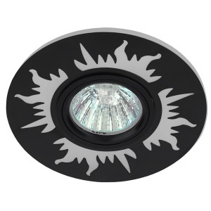 Встраиваемый светильник ЭРА DK LD30 BK декор c LED подсветкой MR16 220V max 11W черный 5056183763831