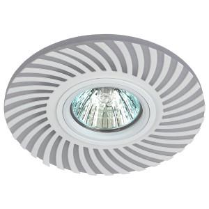 Встраиваемый светильник ЭРА DK LD32 WH декор c LED подсветкой MR16 220V max 11W белый 5056183763626