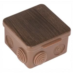 Коробка распаячная КМР-030-014 100х100х55мм тёмное дерево IP54 EKF PROxima