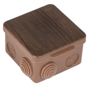 Коробка распаячная КМР-030-031 80х80х50мм тёмное дерево IP54 EKF PROxima