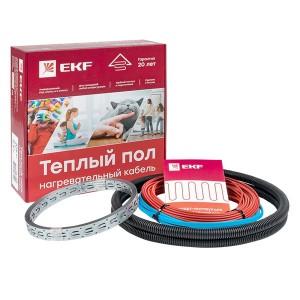 Теплый пол (нагревательный кабель) 1200Вт 80 м 8,0 м2 (без терморегулятора) EKF