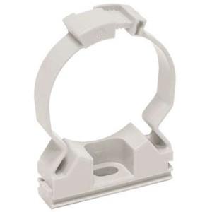 Хомутный держатель серый CFC16 для крепления гладкой жесткой и гофрированной трубы IEK