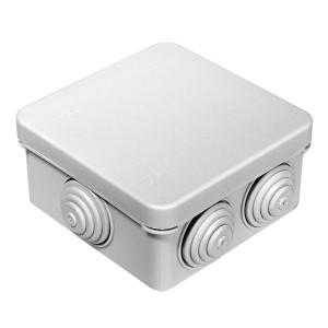 Коробка распределительная Промрукав 80х80х40 безгалогенная стойкая к УФ IP66 белая (упак. 132шт)