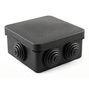 Коробка распределительная Промрукав 80х80х40 безгалогенная стойкая к УФ IP66 черная (упак. 132шт)