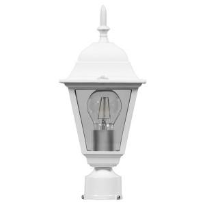 Светильник садово-парковый Классика 4103 E27 150*150*320мм белый (на столб)