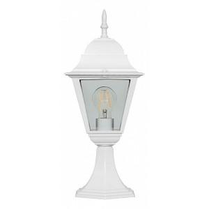 Светильник садово-парковый Классика 4104 E27 150*150*410мм белый (на постамент)