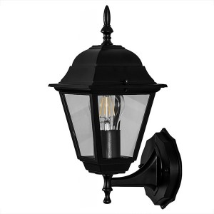 Светильник садово-парковый Классика 4201 E27 185*215*400мм черный (на стену вверх)