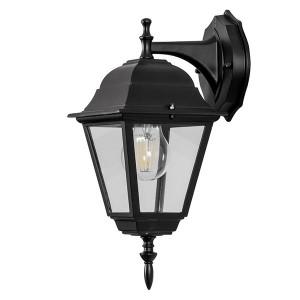 Светильник садово-парковый Классика 4202 E27 185*215*400мм черный (на стену вниз)