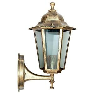 Светильник садово-парковый Классика 6101 E27 170*200*320мм черное золото (на стену вверх)