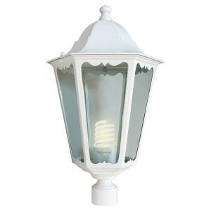 Светильник садово-парковый Классика 6103 E27 170*170*310мм белый (на столб)