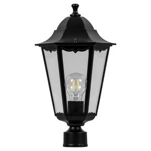 Светильник садово-парковый Классика 6103 E27 170*170*310мм черный (на столб)