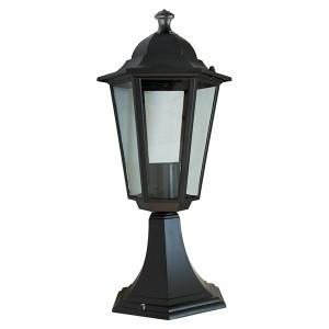 Светильник садово-парковый Классика 6104 E27 170*170*370мм черный (на постамент)