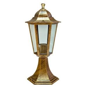 Светильник садово-парковый Классика 6104 E27 170*170*370мм черное золото (на постамент)