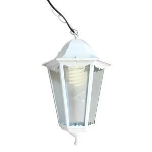 Светильник садово-парковый Классика 6105 E27 170*170*280мм белый (на цепи 500мм)