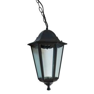 Светильник садово-парковый Классика 6105 E27 170*170*280мм черный (на цепи 500мм)