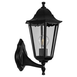 Светильник садово-парковый Классика 6201 E27 225*195*380мм черный (на стену вверх)