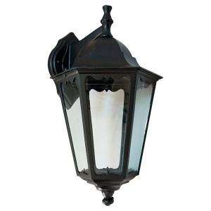 Светильник садово-парковый Классика 6202 E27 225*195*380мм черный (на стену вниз)