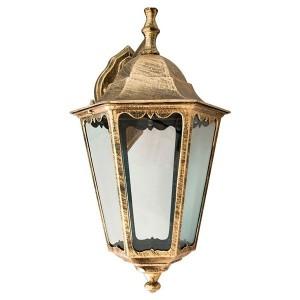 Светильник садово-парковый Классика 6202 E27 225*195*380мм черное золото (на стену вниз)