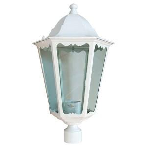 Светильник садово-парковый Классика 6203 E27 195*195*360мм белый (на столб)