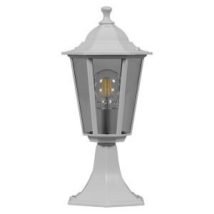 Светильник садово-парковый Классика 6204 E27 195*195*455мм белый (на постамент)
