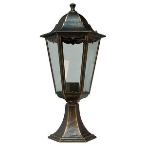 Светильник садово-парковый Классика 6204 E27 195*195*455мм черное золото (на постамент)
