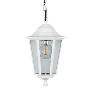 Светильник садово-парковый Классика 6205 E27 195*195*310мм белый (на цепи 500мм)