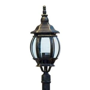 Светильник садово-парковый Классика 8110 E27 160*160*1200мм черное золото
