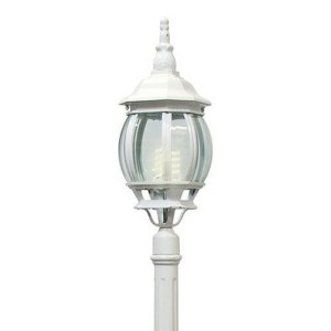Светильник садово-парковый Классика 8111 E27 160*160*2150мм белый