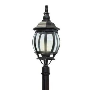 Светильник садово-парковый Классика 8111 E27 160*160*2150мм черный