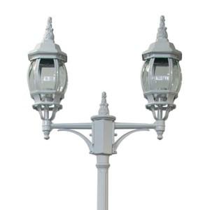Светильник садово-парковый Классика 8114 2*E27 155*590*2290мм белый