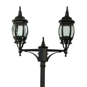 Светильник садово-парковый Классика 8114 2*E27 155*590*2290мм черный
