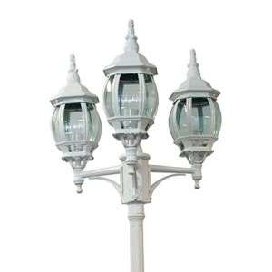 Светильник садово-парковый Классика 8115 3*E27 160*160*2200мм белый