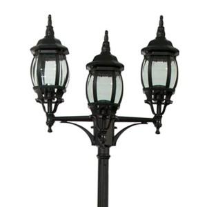 Светильник садово-парковый Классика 8115 3*E27 400*580*2300мм черный