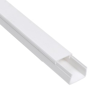 Кабель-канал 20х10 белый Элекор IEK 2м/шт [уп. 96м] (кабельный короб)