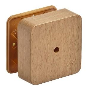 Коробка распаячная 80х80х25 открытой проводки Ruvinil бук [уп. 70шт]