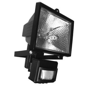 Прожектор галогенный с датчиком движения FL-H 150S 150W R7s IP54 черный