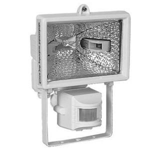 Прожектор галогенный с датчиком движения FL-H 150S 150W R7s IP54 белый