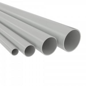 Труба ПВХ жёсткая атмосферостойкая д.20мм, лёгкая, цвет серый[3м/шт, уп.75м] DKC
