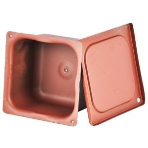 Коробка протяжная металлическая загрунтованная 100х100х80мм без уплотнителя
